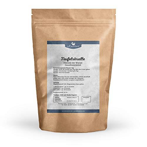 Krauterie Teufelskralle gemahlen Feinteile in hochwertiger Qualität, frei von jeglichen Zusätzen, für Pferde, Hunde und Katzen (Harpagophytum procumbens) - 500 g