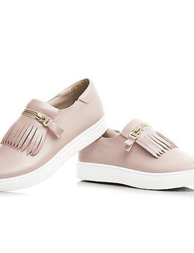 ShangYi gyht Scarpe Donna - Ballerine / Mocassini - Ufficio e lavoro / Formale / Casual - Punta arrotondata - Piatto - Finta pelle - Rosa / Bianco Pink