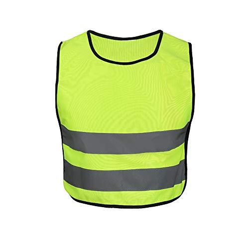 Visibility Vest Weste Kinder Reflektierende Weste Highlights Kinder Grundschüler Sicherheit Schutzweste Campus Night Run, Fluorescent Yellow Reflektierende Weste zum Laufen Radfahren