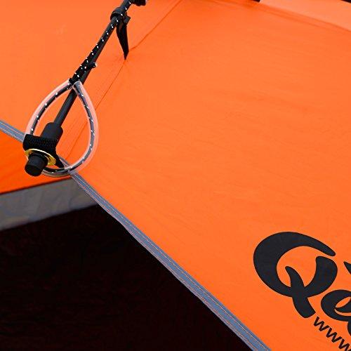 Qeedo Strandmuschel Quick Bay, Strandzelt mit UV-Schutz, Sonnenschutz und 360° Panorama View - orange - 7