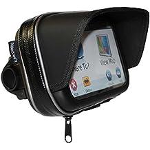 RiderMount impermeable parasol GPS SatNav funda con soporte de moto manillar de la motocicleta para Garmin TomTom