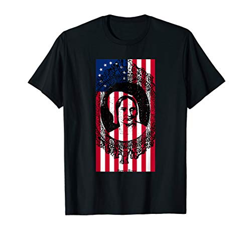 American Hero T-shirt (Betsy Ross Flagge Portrait American Hero T-Shirt)