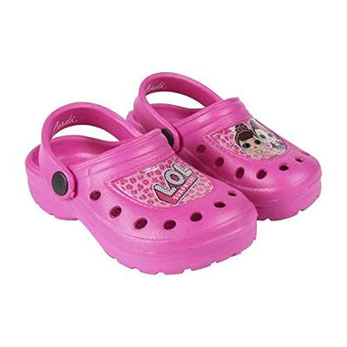 �dchenschuhe Für Den Sommer Mit LOL Puppen Diva, Fancy, Rocker   Kinder Sandalen, Crocs, Für Strand, Schwimmbad, Feiertage   Schuhe Für Mädchen (32/33 EU, Crocs/Pink) ()