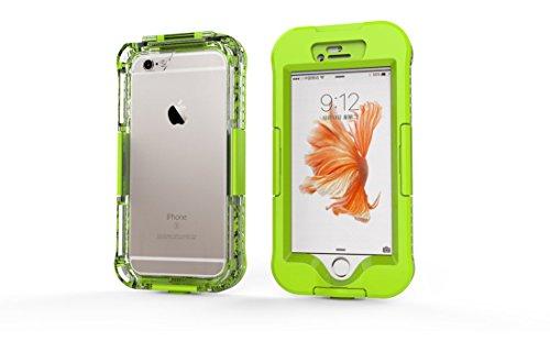 DBIT iPhone SE Custodia Impermeabile,IP68 Certificato Sigillatura Completa Case Anti-sporco Cover Protettiva Waterproof Impermeabile Antiurto per Apple iPhone SE iPhone 5 5s,Rosso Verde