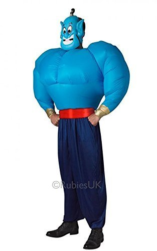 DISNEY ~ Genie (Aladdin) with Inflatable Torso - Adult Costume Adult - One Size by RUBBIES FRANCE