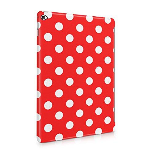 Crimson Red Polka Dots Pattern Dünne Rückschale aus Hartplastik für iPad Air 2 Tablet Hülle Schutzhülle Slim Fit Case Cover Dots Cover Case Snap