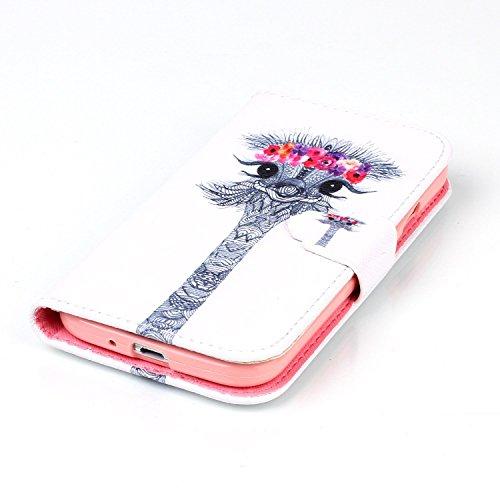 Custodia per Apple iPhone 5C,TOCASO Flip Case PU Pelle [Wallet Design] Caso per iPhone 5C Portafoglio Cover Ultra Sottile Leather Protettivo Cases Covers Shell ID Carta Slots Caso Guscio Copertura con Cartoon