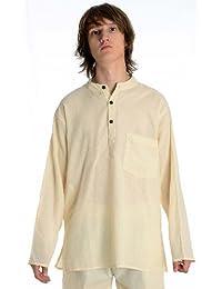 HEMAD Camisa para hombre, de pesca, Beige, Azul, Negro, S–XXXL, algodón