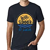 Photo de Homme T Shirt Graphique Imprimé Vintage Tee Time to Say Hello to Summer in St Lucia Marine par One in the City