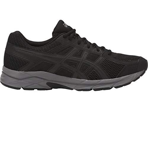 Asics Running Gel Contend 4, Zapatillas de Deporte para Hombre, Negro (Black/Dark Grey 002), 41.5 EU