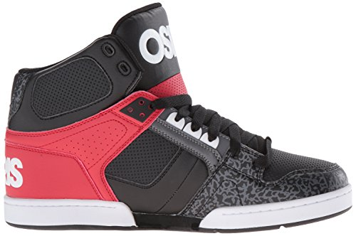 Baskets Osiris: Mens NYC 83 BK/RD noir/blanc/gris