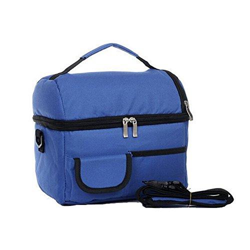 Meijunter Women Men Bambini Lunch Picnic Carry Tote Conservazione Borsa Lunch Box Portable Impermeabile HandBorsa Insulated/Refrigeratore Blue