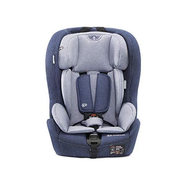 Kinderkraft Car Seat Safety FIX Child's Combination Booster Seat with ISOFIX and Top Tether Group I/II/III (9-36kg) to Approx. 12 Years Safety Certificate ECE R44/04 Navy kk KinderKraft Car Seat - The Safety-Fix car seat grows together with your child. Secure - Equipped with fixing system ISOFIX + Top tether, which guarantees a stable and safe position for your child. Comfort - Hight adjustable 5-point internal harness and 10-step adjustment headrest means the seat will serve your child for years. 2