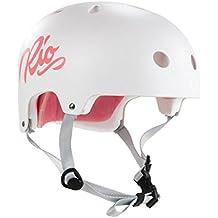 Rio Roller Skate/Derby/Inline/niños/adultos patinaje Script–Casco, color blanco