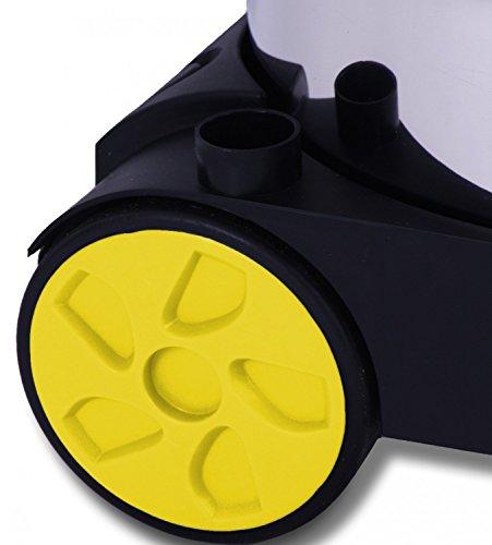 Masko Industriestaubsauger - gelb, 1800Watt ✓ Mit Steckdose ✓ Blasfunktion ✓ GS-Geprüft | Mehrzwecksauger zum Trocken-Saugen & Nass-Saugen | Industrie-Sauger verwendbar mit & ohne Beutel | Wasser-Staubsauger beutellos mit Filterreinigung - 4