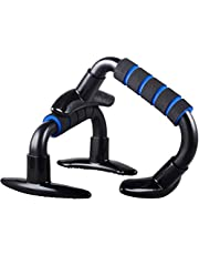 GOCART Push Up Bar Stand Pair Work Out Stand with Comfort Grip and Ergonomic Angle Foam Handles (Black)