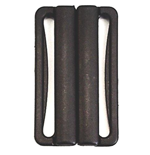 Preisvergleich Produktbild Bikiniverschluss schwarz Steg 40mm Kunststoff