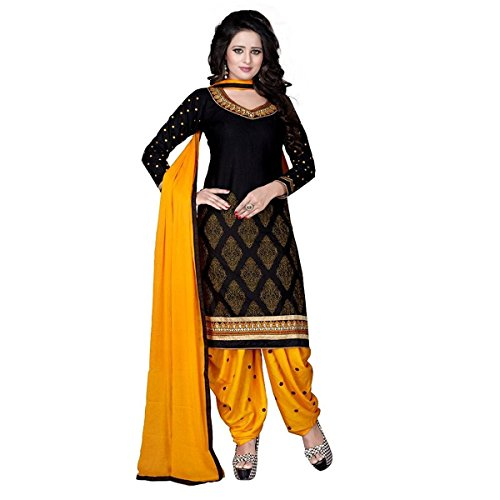 rangrasiya Women's Dress Material (PD2211_Free Size_Black)