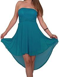 Designer Damen Abendkleid mit Spitze Vokuhila Etui Kleid Neu XS S M in meheren Farben