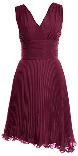 MACloth - Robe - Trapèze - Femme Rouge - Rouge vin