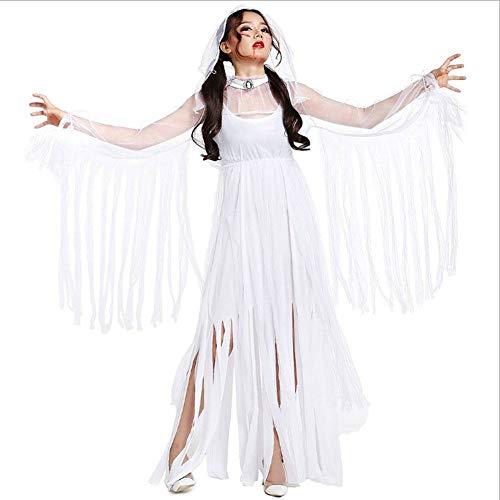 Mumie Kostüm Braut - AIYA Halloween Zombie Weiß Ghost Cos Ghost Bride Mummy Bar Cosplay Kostüm Spiel Uniform