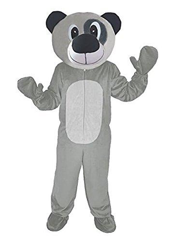 Teddy Bär 2 grau Einheitsgrösse XXL-Kostüm Fasching Karneval Maskottchen - Top 10 Maskottchen Kostüm