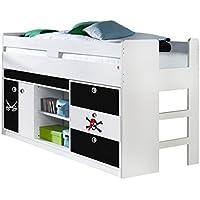 Hochbett 90x200 cm Kinderbett Multifunktionsbett Bett Kinderzimmer Pirat preisvergleich bei kinderzimmerdekopreise.eu