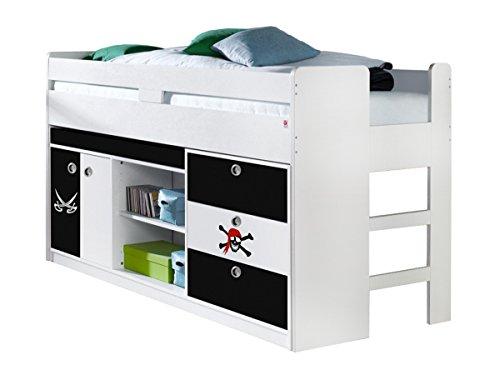 Hochbett 90×200 cm Kinderbett Multifunktionsbett Bett Kinderzimmer Pirat