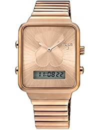 Reloj Tous digital I-Bear de acero IP rosado con bolso verano Tous de regalo