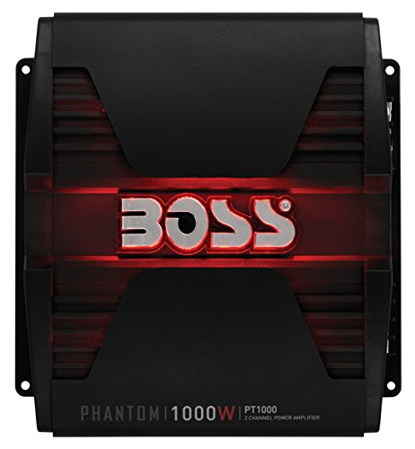 Car 1000 Watt Stereo (BOSS AUDIO PT1000 Phantom 1000 W 2 Kanal, Klasse-A/B-Verstärker)