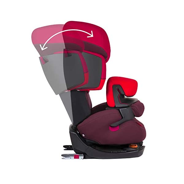 CYBEX Silver Pallas-Fix 2-in-1 Child's Car Seat, For Cars with and without ISOFIX, Group 1/2/3 (9-36 kg), From approx. 9 Months to approx. 12 Years, Rumba Red Cybex Sturdy and high-quality child car seat for long-term use - For children aged approx. 9 months to approx. 12 years (9-36 kg), Suitable for cars with and without ISOFIX Maximum safety - Depth-adjustable impact shield, 3-way adjustable reclining headrest, Built-in side impact protection (L.S.P. System) 11-way height-adjustable comfort headrest, One-hand adjustable reclining position, Easy conversion to Solution X-Fix for children from 3 years (group 2/3) by removing impact shield and base, Adjustable backrest 5