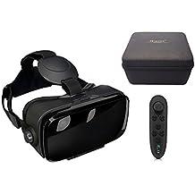 "VR-Shark® X4 Lite Bundle - Virtual Reality Kit for Smartphones Suitable for All Mobile Phones with 4.7 - 6.1"" Display | VR Glasses & Gamepad & Hardcase [FOV 120 ° | PD + FD | Black-Matt]"