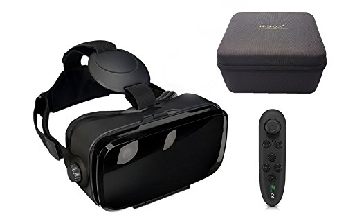 VR-SHARK X4 Lite Bundle - Virtual Reality Kit mit Touchbutton + Hardcase + Bluetooth Controller | VR...