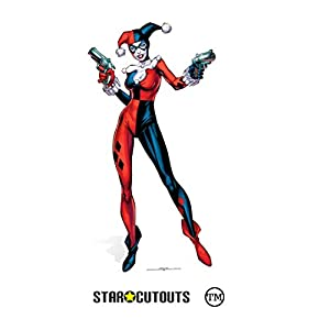 Star Cutouts SC846 Harley Quinn DC Comics cartón Cut Out