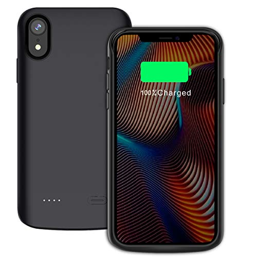Casefirst iPhone XR 6000mAh Battery Case Power Bank Case Portable Charger Juice Pack Power Bank Battery Backup Charging Case for iPhone XR 6000mAh
