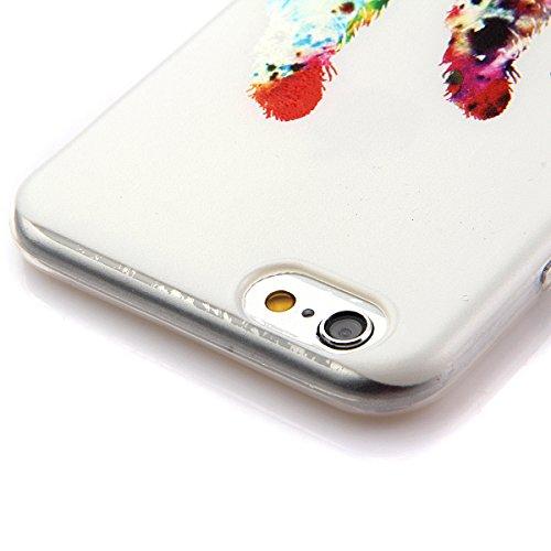 Etche Boîtier en caoutchouc pour iPhone 5C,Cas de TPU pour iPhone 5C,Coque pour iPhone 5C,Colorful série Imprimé Housse de la peau de pare-chocs TPU Soft en caoutchouc de silicone pour iPhone 5C Gratu TPU #11