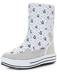 PAMRAY Botines Mujer Zapatos Invierno Botas Nieve Calentado Forro Polar Plataforma 4cm Velcro Calzado Felpa Boots