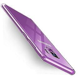 Humixx Samsung Galaxy S9 Hülle, Kratzfest Stoßfest Anti-Fingerabdruck Handyhülle PC Rückschale Silikon Bumper Schutzhülle Case für Samsung Galaxy S9 【Crystal Clear】(Transparent)