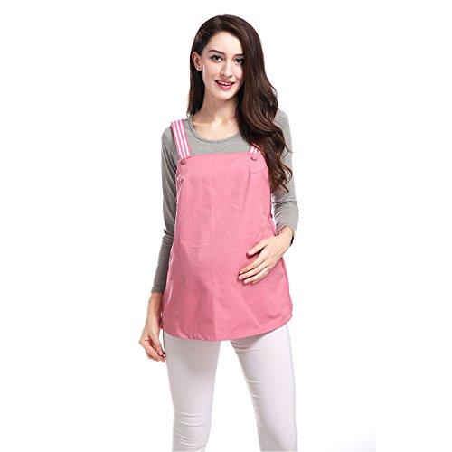 Metall Faser Anti-Strahlung Mutterschaft Kleidung Tank Top Schutz Shild Kleid QM005 L (Tunika Pailletten-jersey)