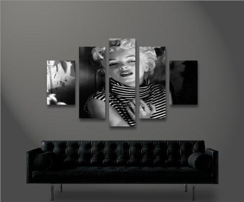 Marilyn Monroe V15-5 5 Quadri moderni su tela - pronti da ...
