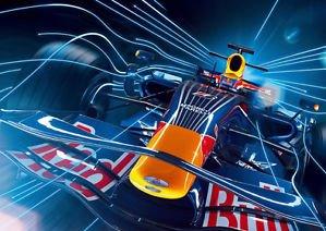 Salopian Sales F1 racing car - red bull 1 - A3 Poster