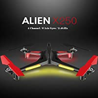 Ocamo XK X250 RC Drone 2.4GHz 4CH 6-Axis RC Quadcopter One Key Return Headless RC Aircraft without Camera RC Helicopter