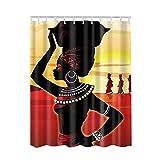 QEES bunter Duschvorhang Künstlerische Bilder Wasserdichter Dusche Vorhang aus Polyster Anti-Schimmel Textilien Wasserabweisend Mit Ringen YLB04 (72