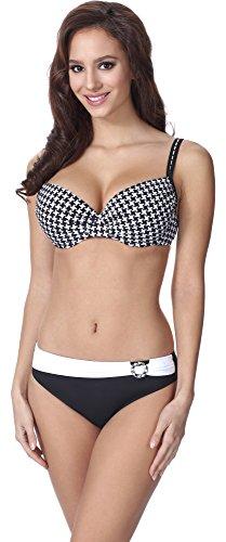 Feba Figurformender Damen Push Up Bikini F01 (Muster-303, Cup 90C / Unterteil 44)