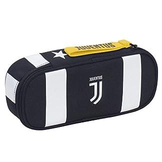 Estuche Escolar Seven Linea oficial Juventus Juve cremallera monedero + incluye lápiz purpurina + incluye marcapáginas Juventus
