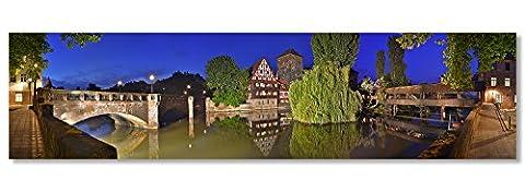 Acyrl Verre Photo panoramique jusqu'à 3mètres largeur, Nuremberg, vin stadl et Bourreau de Nuremberg Panorama en tant que Exclusif Fine Art Print Image et haute qualité Décoration Murale Décoration Murale, décoration murale sous verre acrylique panoramique sur original en aluminium Dibond©, 280 x 70