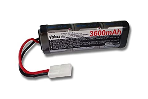 RC Model building battery Ni-MH 3600mAh 7.2V suitable for diverse Racing Cars, Helicopters, Aeroplanes and Model boats etc.