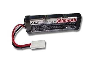 Batterie de modélisme RC Ni-MH 3600mAh 7.2V avec Connecteur Tamiya pour divers modèles de voitures de courses, hélicoptères, avions, bateaux, etc...