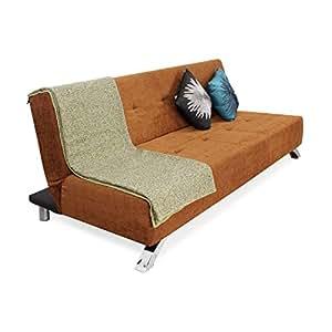 Forzza Laura Three Seat Sofa cum Bed (Brown)