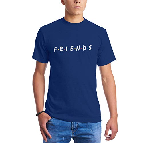 CHILLTEE Friends Cool Fun Style Friends TV Series Azul Real Camisetas para Hombre M
